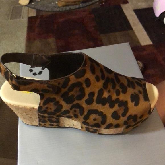 Volatile Shoes | Leopard Print Wedges